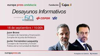 Desayuno Informativo Andalucía con el consejero de Hacienda y Financiación Europea, Juan Bravo