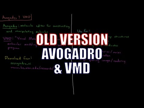 Computational Chemistry 1.3 - Avogadro and VMD  (Old Version)