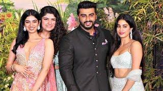 Jhanvi Kapoor With Arjun Kapoor At Sonam Kapoor Reception