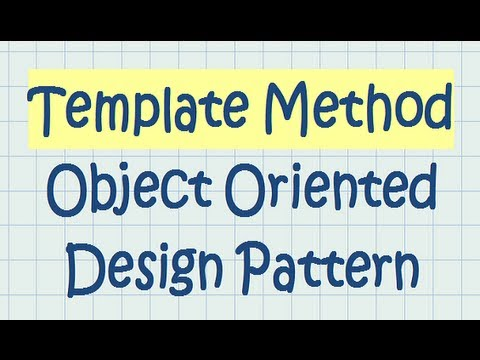 Template Method Object Oriented Design Pattern - YouTube