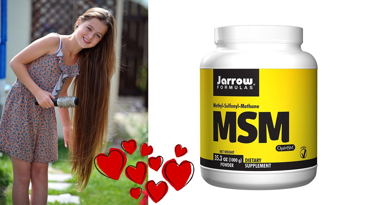 HOW TO grow your hair faster with MSM !!