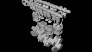 4 cylindres en ligne (modèle 3D)