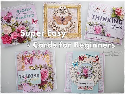 5 Super Easy for Beginners Cardmaking Tutorial ♡ Maremi's Small Art ♡