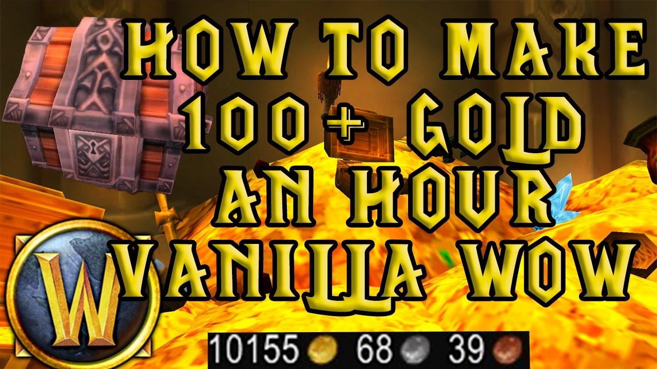 Wow Vanilla 100g An Hour Gold Farming Nostalrius Elysium Kronos Youtube