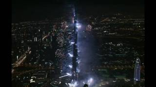 World's Tallest Building - Burj Khalifa (Burj Dubai) Grand Opening Fireworks Show - January 4, 2010