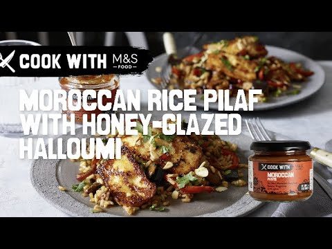 M&S   Cook With... Moroccan Rice Pilaf with Honey Glazed Halloumni