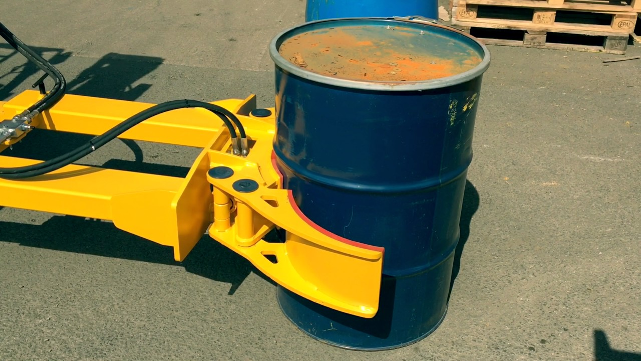 Versatile Grabber for 210 Litre Drums | Hydraulic Clamping