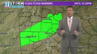 Rain expected to last through Wednesday | Flood watch in effect in north Georgia