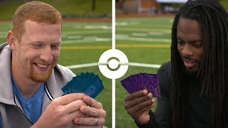 Trainers Richard Sherman and Johnny Hekker Face Off in the Pokémon TCG!