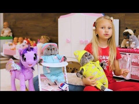 Алиса купила БАСИКОВ !!! Новые любимые игрушки !!!