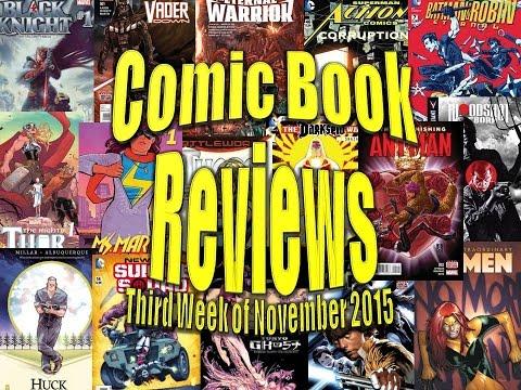 Comic Book Reviews - 3rd Week of November 2015