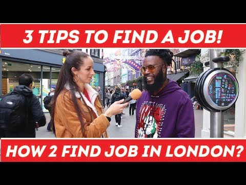 🇬🇧 How To Find A Job In London❓ 💻  | Top 3 Tips To Find A JOB❓💥 | Street Interviews | Carnaby Street