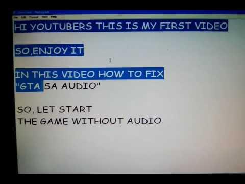 how to fix gta sa not