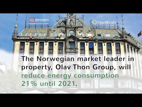 Olav Thon Group, will  reduce energy consumption 21% until 2021.