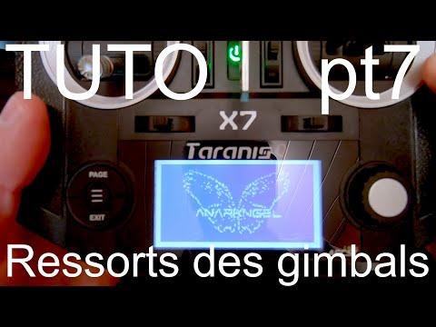 Tuto Taranis QX7 (PT7) : régler la tension des ressorts gimbals