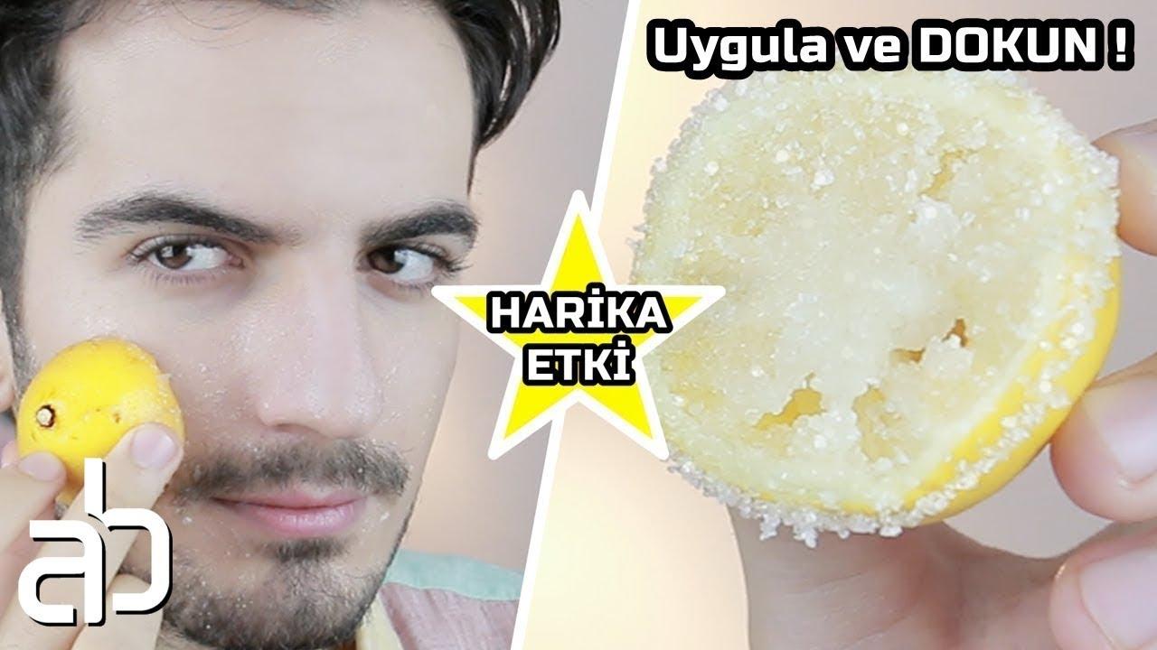 Siyah noktalar için şekerli limon maskesi