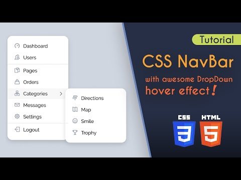 CSS Navbar Menu With Multi Level Animation Effect (tutorial)
