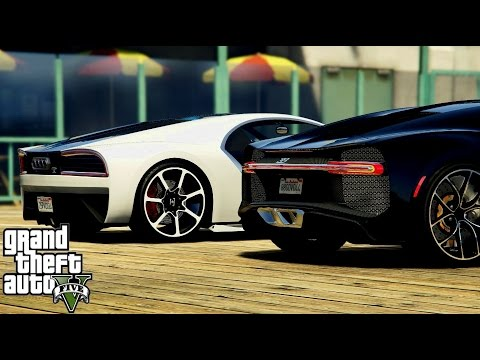 GTA V Cars Battle  Bugatti Chiron VS Truffade Nero