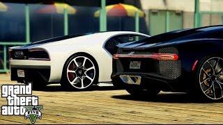 GTA V: Cars Battle - Bugatti Chiron VS Truffade Nero - Rockstar Editor