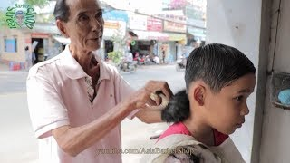 Barber Shop in Vietnam 2018 Kid Haircut