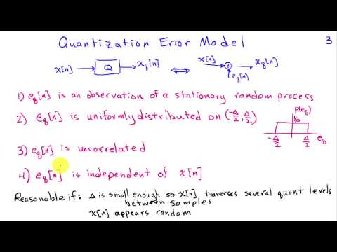 Analysis of Quantization Error