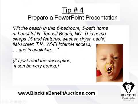 Blacktie Benefit Auctions - Benefit Auction Presentation for Development Directors