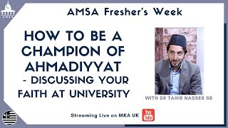 AMSA Fresher's Week: Discussing Your Faith at University