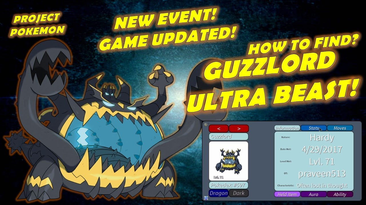 GUZZLORD ULTRA BEAST! HOW TO FIND? PROJECT:POKEMON - YouTube