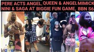 BBNaija 2021, Pere Acts Angel, Queen & Angel Mimicking Nini & Saga At Biggie Fun Game, BBNaija S 6