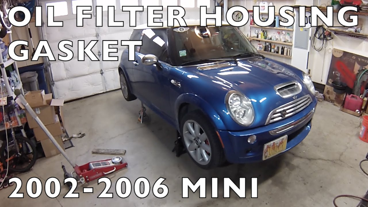 How To Replace Oil Filter Housing Gasket R50r53 Mini Cooper 2002