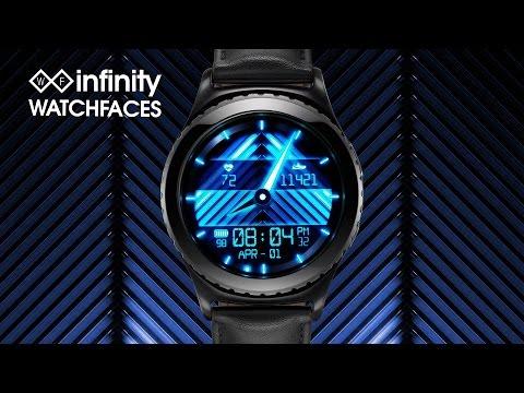 Digi-Glow Watch Face Designed for Samsung Gear S2 Smartwatch - Demo