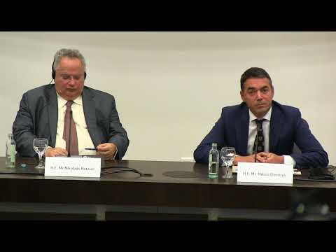 Question ignored about Macedonian human rights - Macedonian FM Dimitrov - Greek FM Kotzias meeting
