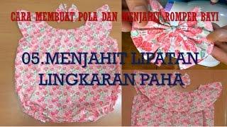 Cara Membuat Pola Dan Menjahit Baju Dress Romper Bayi BAGIAN 5 MENJAHIT LIPATAN LINGKAR PAHA