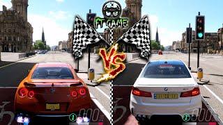 Nissan GT-R vs BMW M5 - Drag, Rolling & Highway Races | Forza Horizon 4
