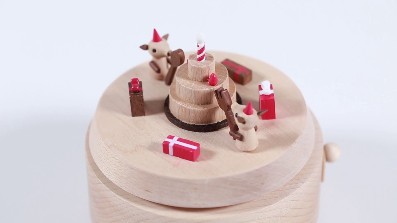 Piggies Birthday Cake Wooden Music Box YouTube