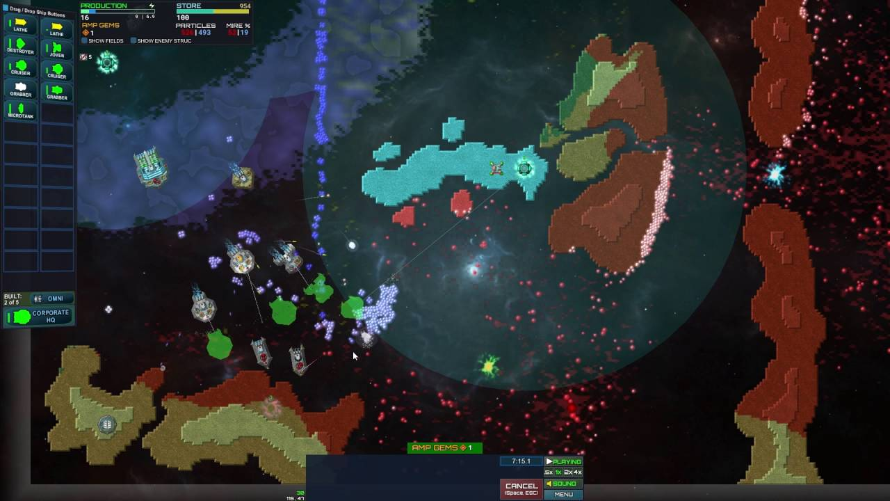 Particle Fleet pre-release game play footage - YouTube