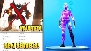 Fortnite Update: B.R.U.T.E VAULT, Galaxy Skin Promotion, NEW Servers & MORE!