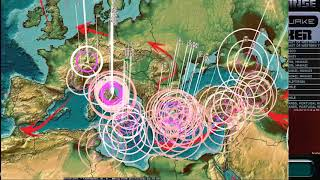 10/16/2017 -- Earthquakes spreading from across Pacific -- Europe, Pacific, USA -- Be prepared