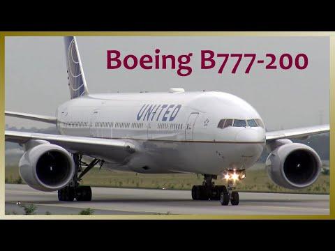 United Airlines Boeing 777-200 landing @ Frankfurt Airport