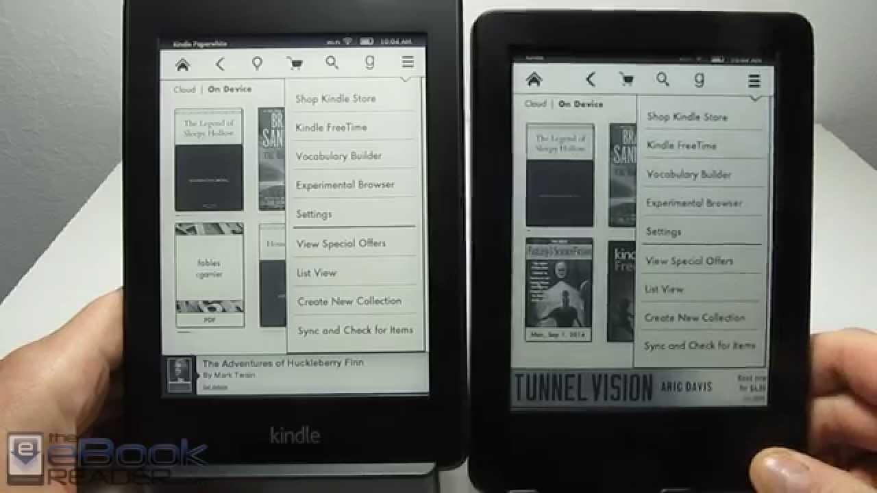 8d09254405e Kindle Paperwhite vs  79 Basic Kindle Touch Comparison Review - YouTube