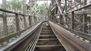 Thunderhead Roller Coaster POV Dollywood Front Seat On-Ride Wooden Rollercoaster GCI HD