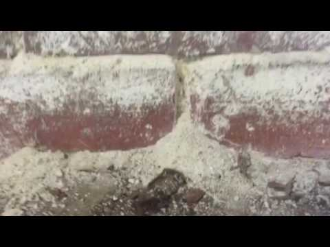 Efflorescence on Mortar and Brick Basement