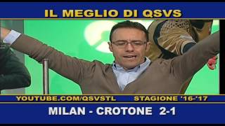 QSVS - I GOL DI MILAN - CROTONE 2-1 TELELOMBARDIA / TOP CALCIO 24