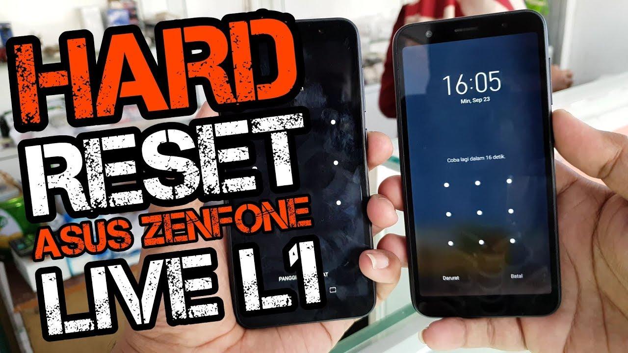 Mengatasi Lupa Pola Zenfone Live L1 Hard Reset Via Recovery Youtube