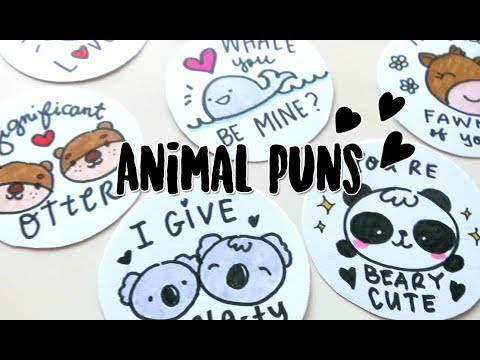 8 Kawaii Animals Puns Badges Doodles By Sarah YouTube
