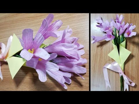 DIY   How To Make Beautiful Flower For Gift From Crepe Paper   DIY-Beauty Of Paper