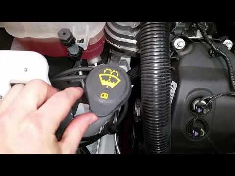 - Ford Flex SUV - Windshield Washer Fluid Filler Tube Location