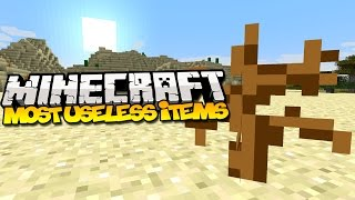 The Most USELESS Items in Minecraft
