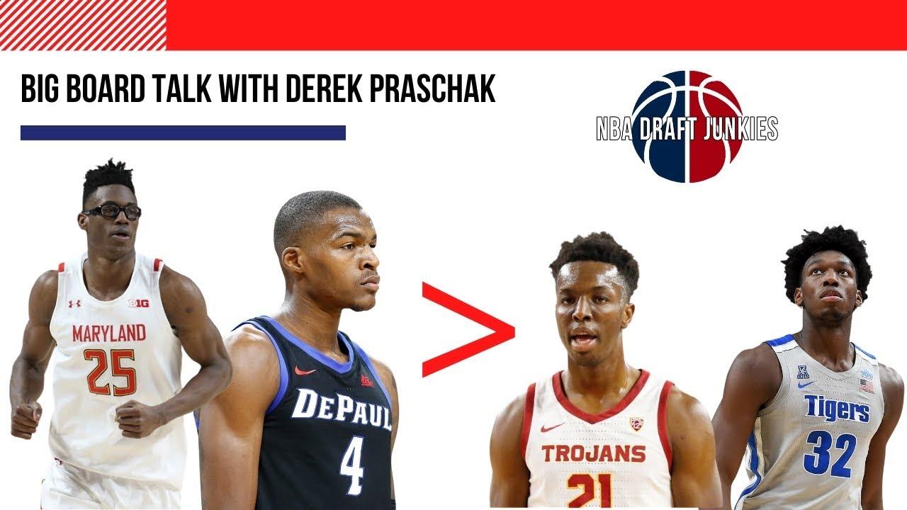 NBA Draft Junkies | Big Board Talk w/ Derek Praschak -  Smith & Reed over Okongwu, Wiseman & Toppin?