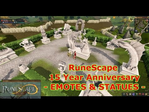 Emotes and Statues Hunting (RuneScape - 15 Year Anniversary)!